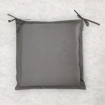 Μαξιλάρι εξωτερικου χώρου με αδιάβροχο υφασμα και κορδονάκια δεσίματος σε χρώμα γκρι