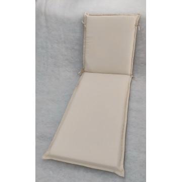 Μαξιλάρι για ξυλινη ξαπλώστρα 8εκ από αδιάβροχο υφασμα 200gr polyester σε χρώμα μπεζ