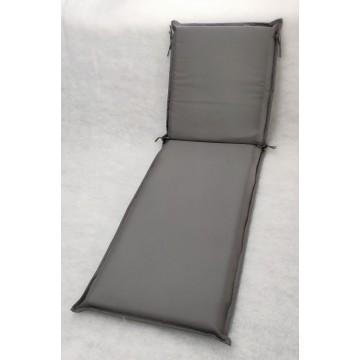 Μαξιλάρι για ξυλινη ξαπλώστρα 8εκ από αδιάβροχο υφασμα 200gr polyester σε χρώμα γκρι