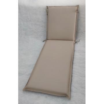 Μαξιλάρι για ξυλινη ξαπλώστρα 8εκ από αδιάβροχο υφασμα 200gr polyester σε χρώμα μπεζ της άμμου