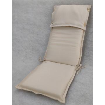 Μαξιλάρι με ψηλή πλάτη και προσκέφαλο εξωτερικου χώρου με επένδυση από αδιάβροχο υφασμα σε χρώμα μπεζ
