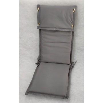 Μαξιλάρι με ψηλή πλάτη και προσκέφαλο εξωτερικου χώρου με επένδυση από αδιάβροχο υφασμα σε χρώμα γκρι