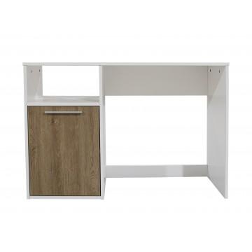 γραφείο παιδικό εφηβικό σε χρώμα λευκό με σταχτί, μελαμίνη