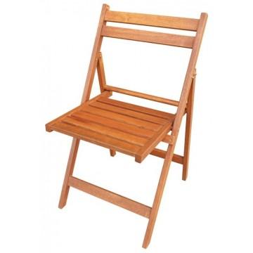 καρέκλα ξύλινη  πτυσσόμενη χωρίς μπρατσα